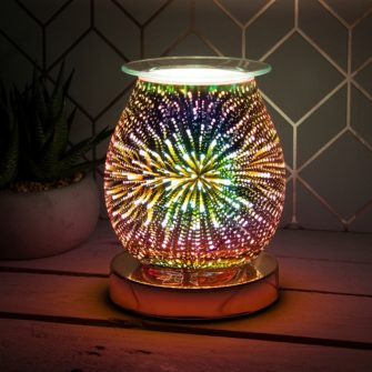 rose gold firework wax melter burner