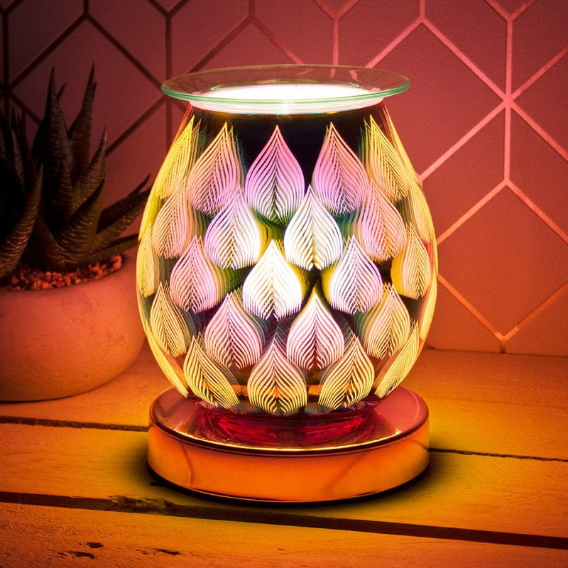 flames electric melter rose gold