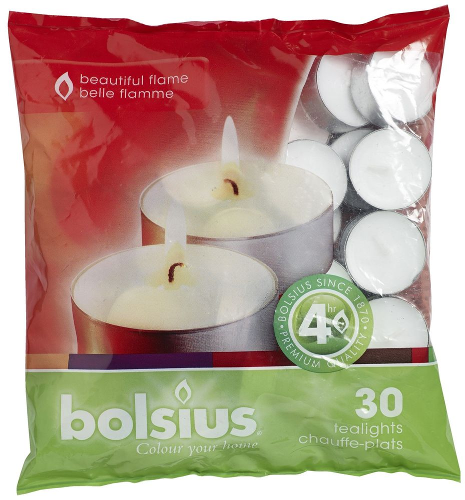 Bolsius 30 pack 4 hour tea lights