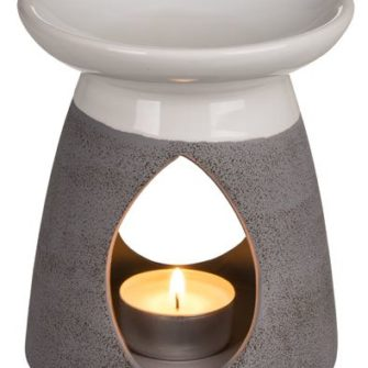 Grey & White Tealight Burner