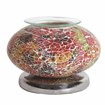 Red Mosaic Wide Electric Wax Burner