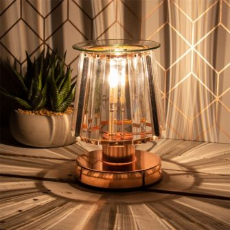 Cristallo Touch Sensitive Electric Wax Burner - Rosegold/Clear